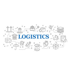 Logistics banner logistics with icons vector