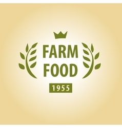 Logo for farming vector