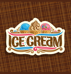 Logo for italian ice cream vector