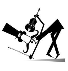 Long mustache violinist vector