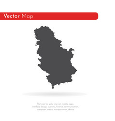map serbia isolated black on vector image