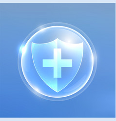 medical protextion shield against viruses vector image