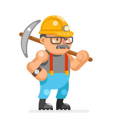 Miner collier man pitman character cartoon mine vector