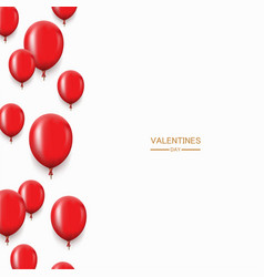 Modern red balloons background for happy vector