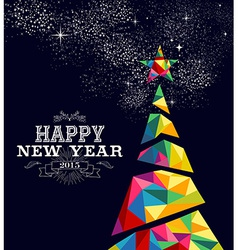 New year 2015 tree poster design vector image