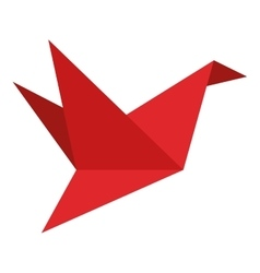 origami bird icon vector image