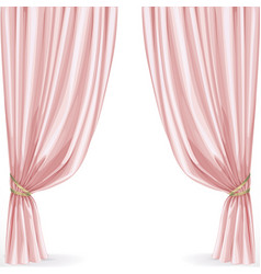 Pink curtain isolated on a white background vector