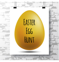 Poster with a handwritten phrase-easter egg hunt vector