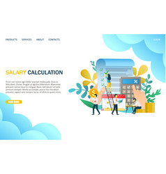 salary calculation website landing page vector image
