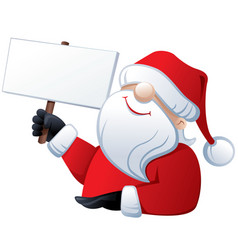 santa claus holding a banner vector image