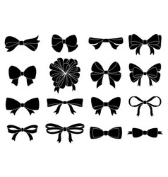 set of decorative bow for your design vector image