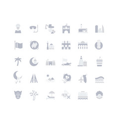 set simple icons bahrain vector image