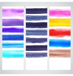 set watercolor banners vector image