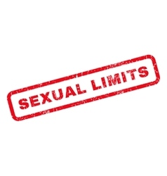 Sexual Limits Rubber Stamp vector