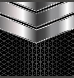 silver and black metal texture background vector image