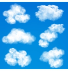 Sky clouds background vector image