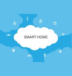 Smart home infographic cloud design template vector