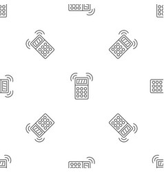 smart house alarm pattern seamless vector image