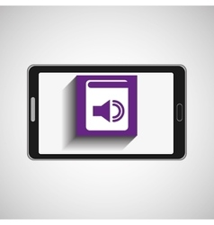 Smartphone technology e-book display sound vector