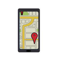 smartphone with navigation gps mobile application vector image