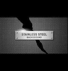 stainless steel torn on black background vector image