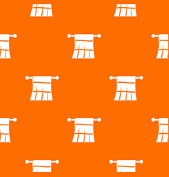 Towel on a hanger pattern seamless vector