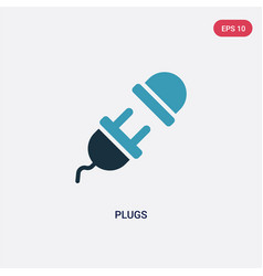 Two color plugs icon from technology concept vector