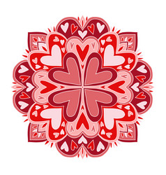 valentines day mandala art carpet ornament vector image