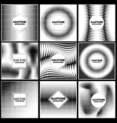 vintage halftone style background design template vector image