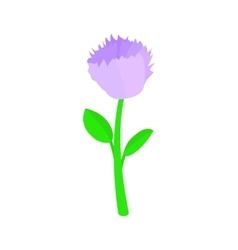 Violet flower icon isometric 3d style vector