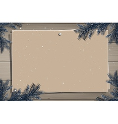 Wooden board with photo and place for inscription vector
