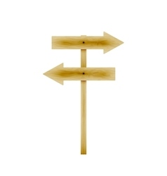 wooden direction arrows vector image