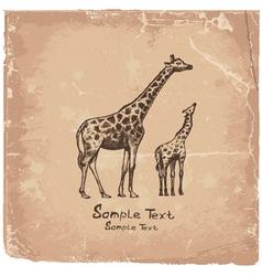 art giraffe vector image vector image