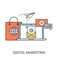 Digital marketing vector