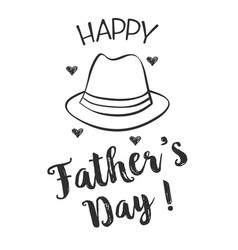 Happy father day hand draw design collection vector
