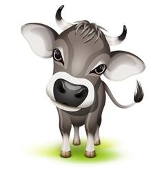 Little swiss cow vector image vector image
