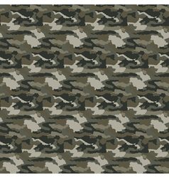 Military camouflage seamless pattern vector image