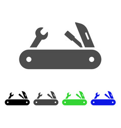 multi-tools knife flat icon vector image