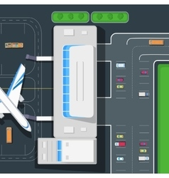 Parking at the Airport Emplanement Car space vector image vector image