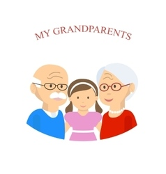 Grandparents Family with Grandchild vector image vector image