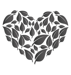 Heart with healthy food isolated icon vector