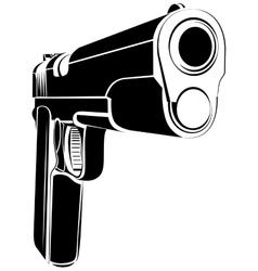 Pistol 1911 gun fire 45 caliber vector