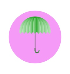 umbrella light green in circle vector image vector image