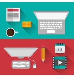 Blog design icons vector image