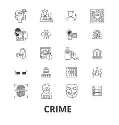 crime prison law security policelegalthief vector image vector image