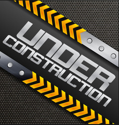 under construction sign on a textured background vector image vector image