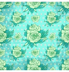 vintage wallpaper with seamless rose pattern vector image vector image