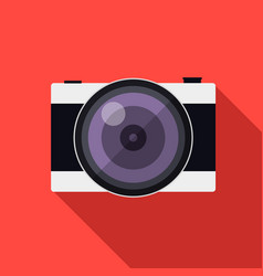 flat style camera with long shadows vector image vector image