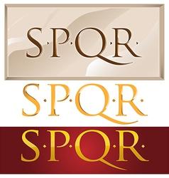 romans symbol vector image vector image