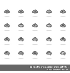 Set of brain icons vector image vector image